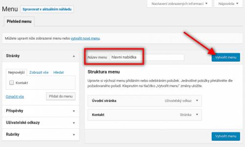 Jak vytvořit hlavní nabídku ve WordPressu
