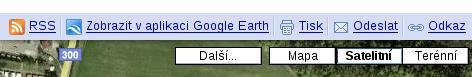 Tlačítka u mapy Google