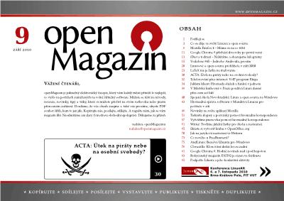Obálka openMagazin 09/2010