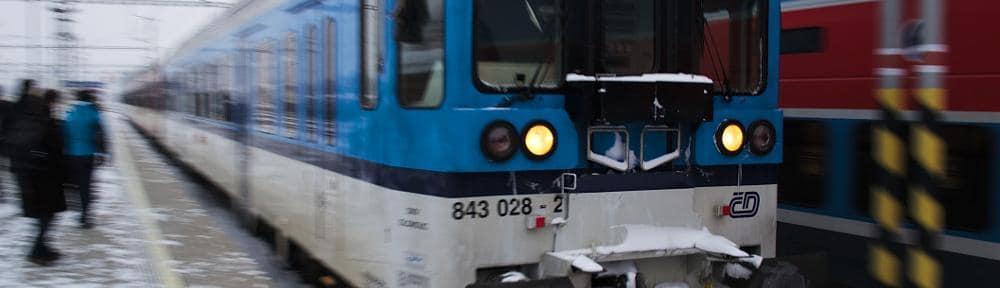 Vlak v Opavě
