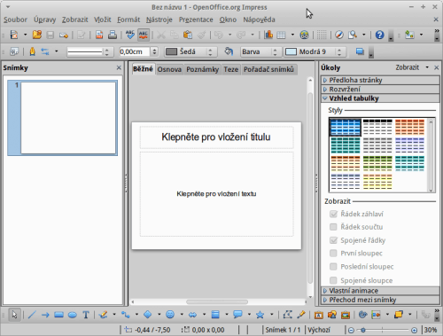 Impress v Apache OpenOffice