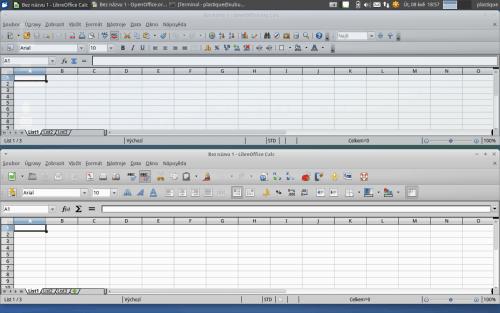 Calc v Apache OpenOffice a v LibreOffice