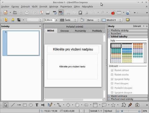 Impress v LibreOffice