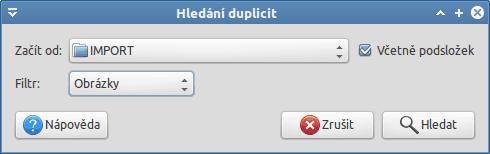 Hledání duplicit pomocí gThumb