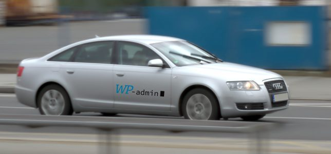 Audi s logem WP-admin