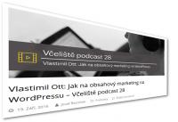 V podcastu Josefa Řezníčka – WordPress a marketing obsahem