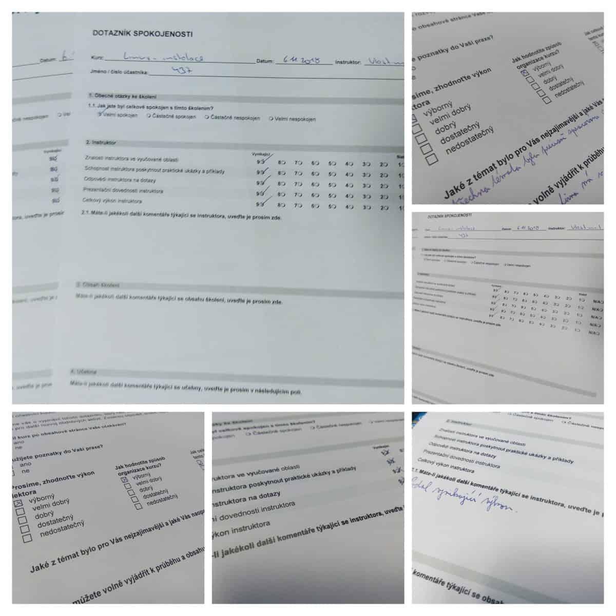 Některá hodnocení účastníků mého linuxového školení