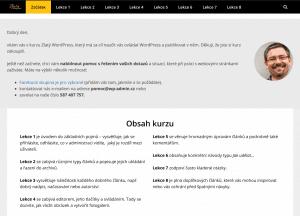 Ukázka kurzu Zlatý WordPress